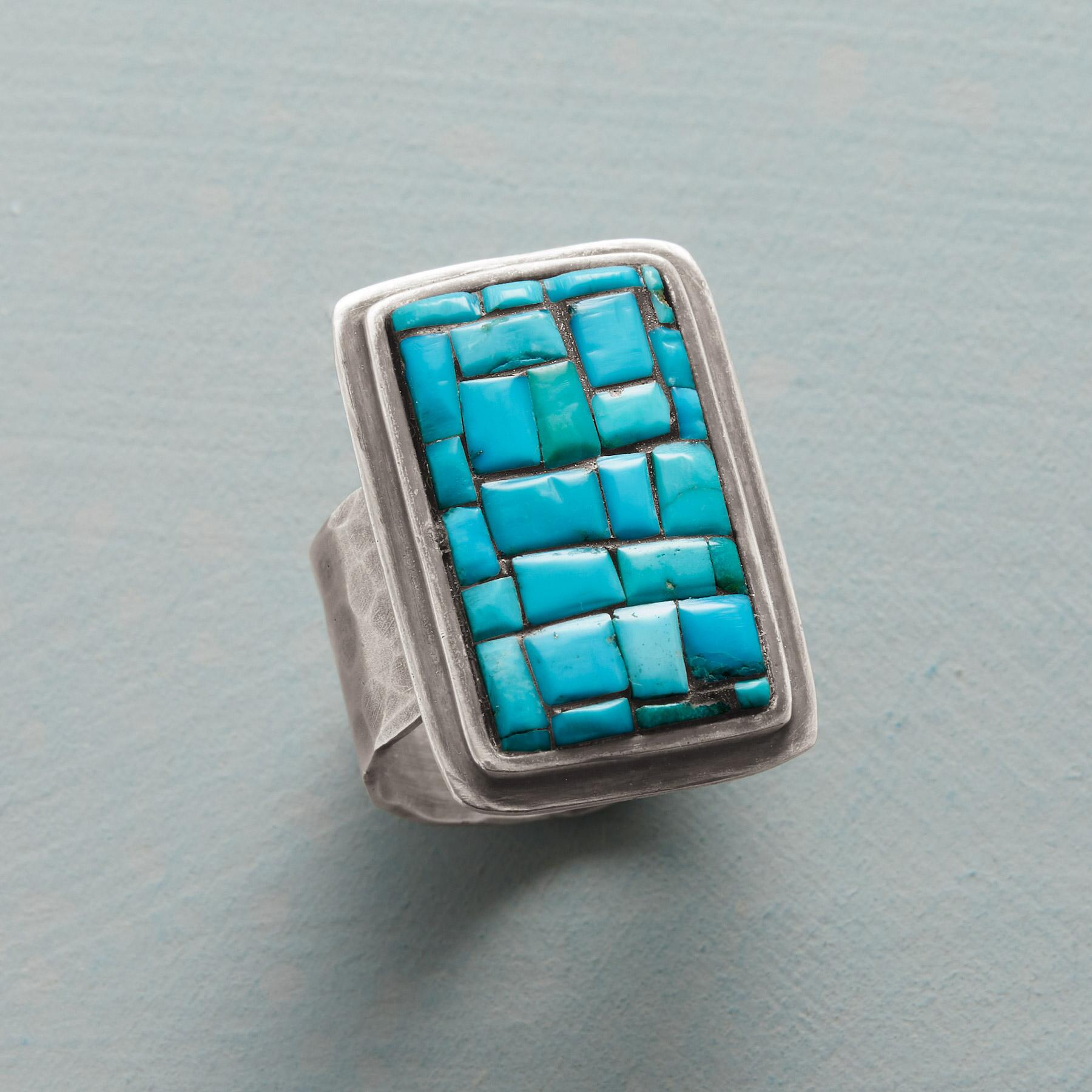 TURQUOISE COBBLESTONE RING: View 1
