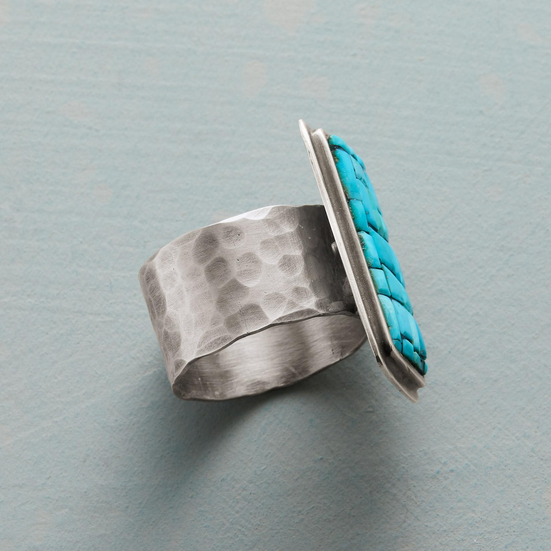 TURQUOISE COBBLESTONE RING: View 2