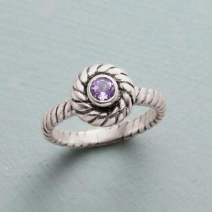 LAVENDER TWIST RING