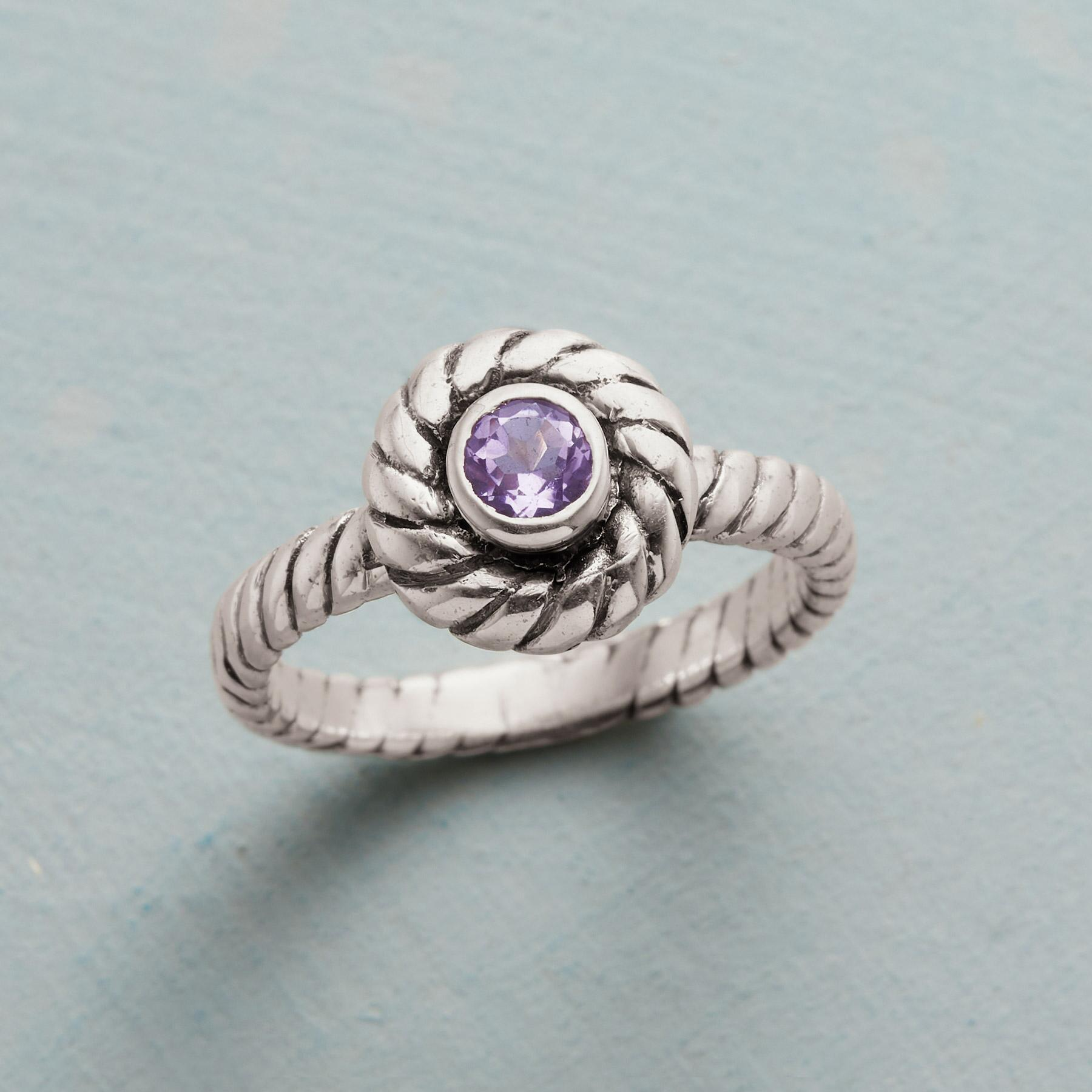 LAVENDER TWIST RING: View 1