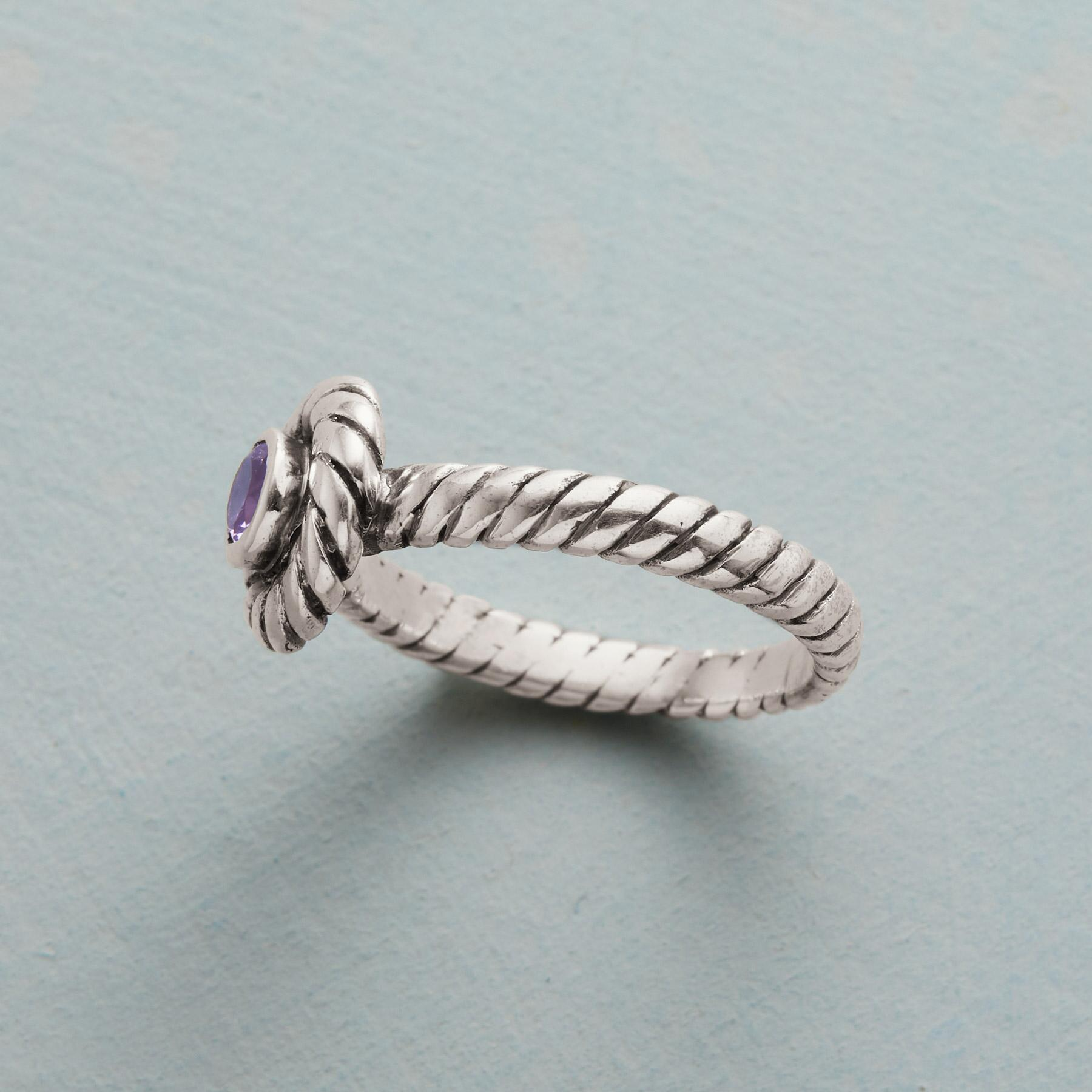 LAVENDER TWIST RING: View 2