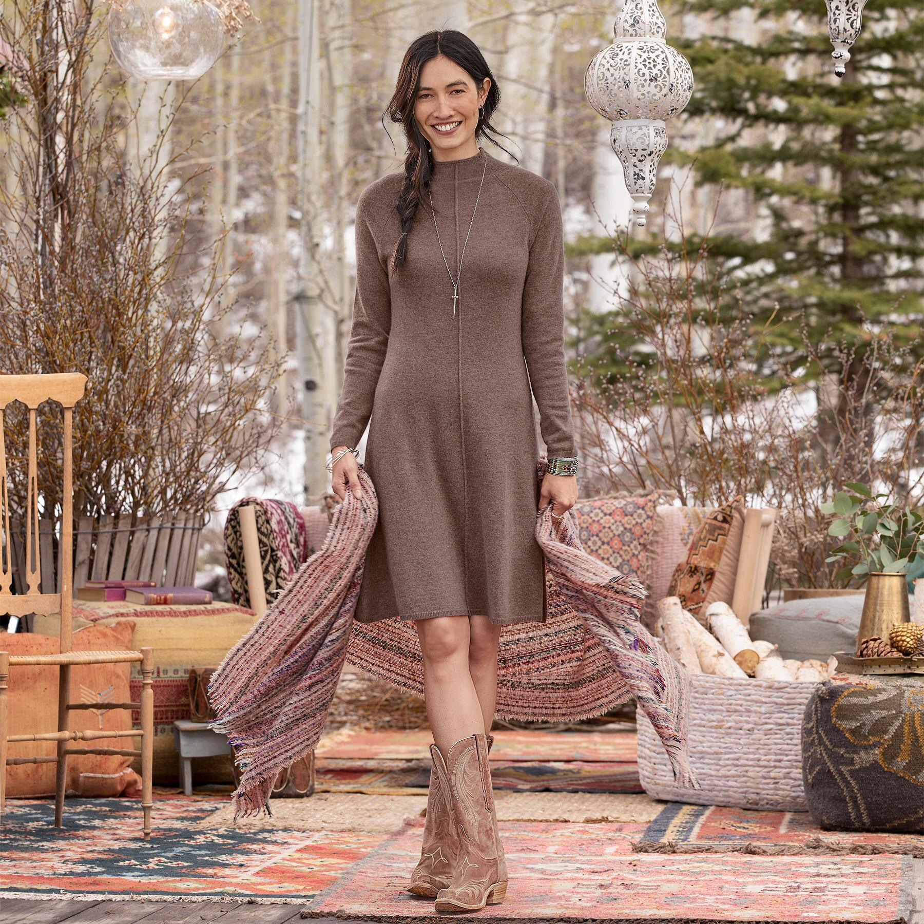 CRISSY CASHMERE BEAUTY DRESS: View 1