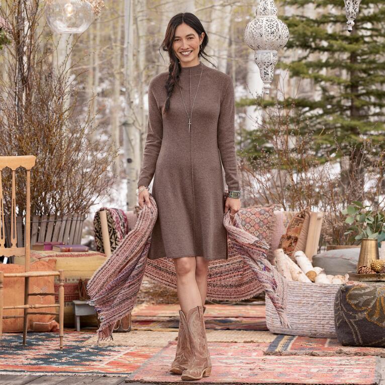 CRISSY CASHMERE BEAUTY DRESS PETIT