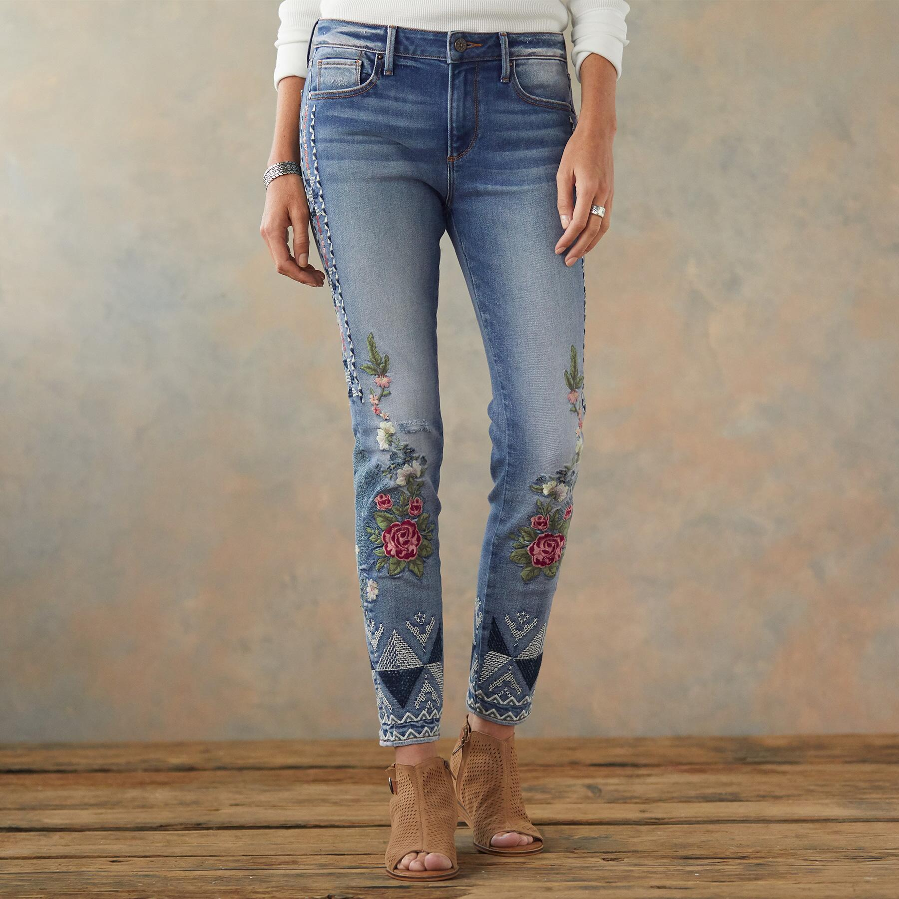 JACKIE FLORAL TRIBE JEANS: View 2