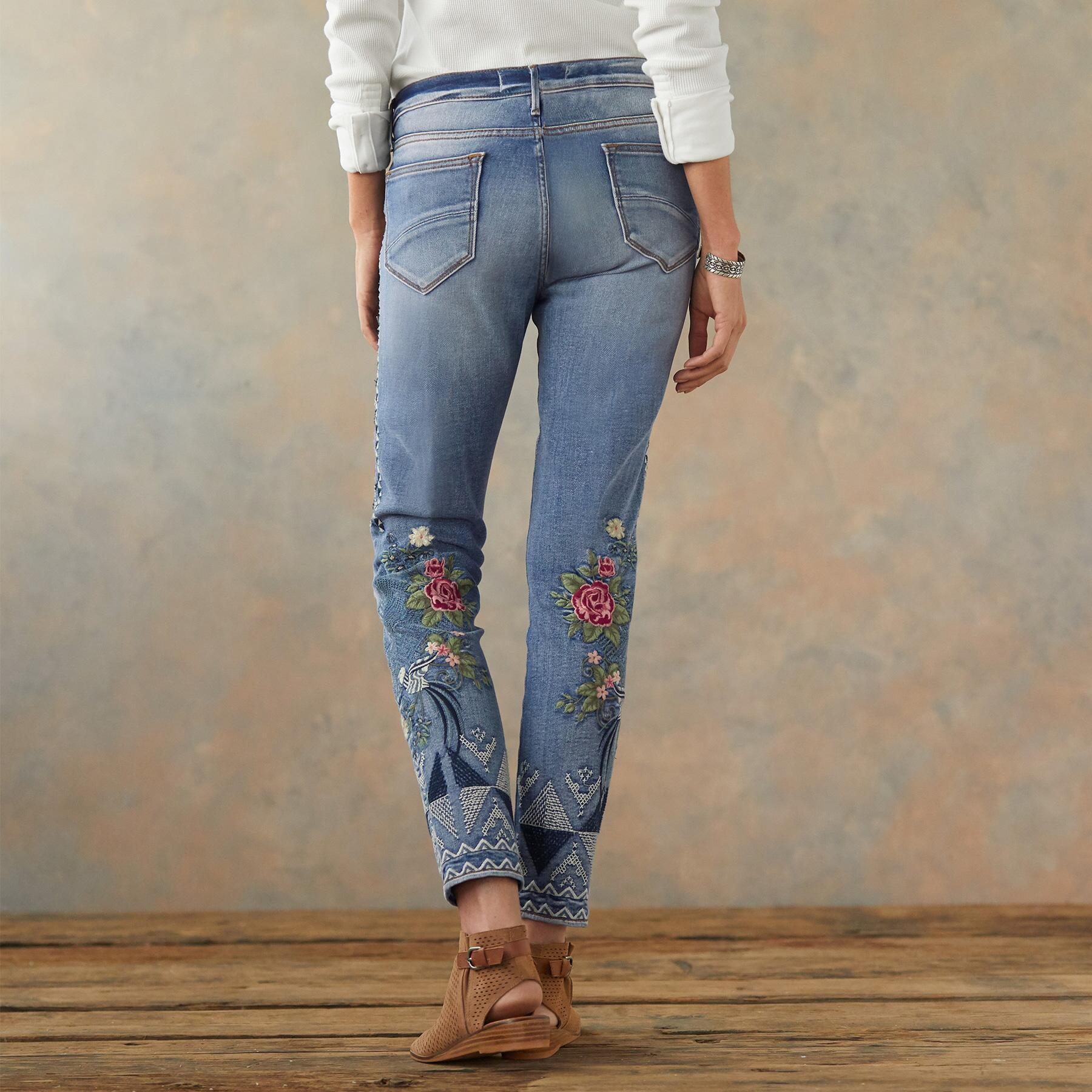 JACKIE FLORAL TRIBE JEANS: View 3