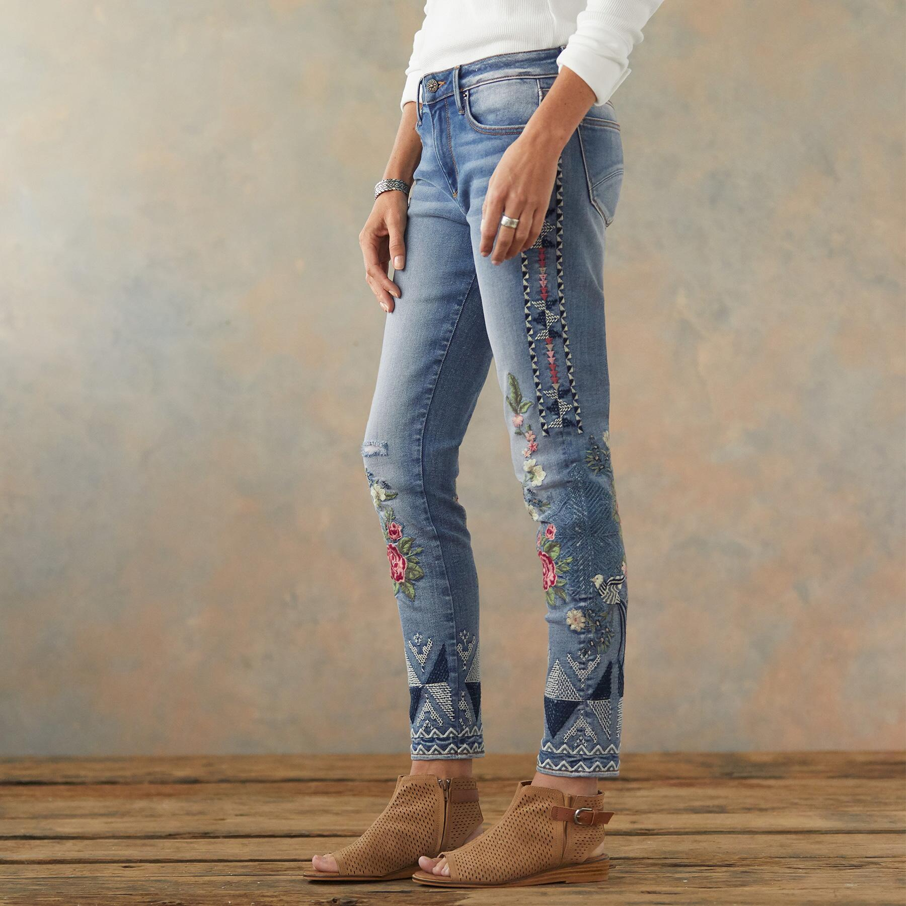 JACKIE FLORAL TRIBE JEANS: View 4