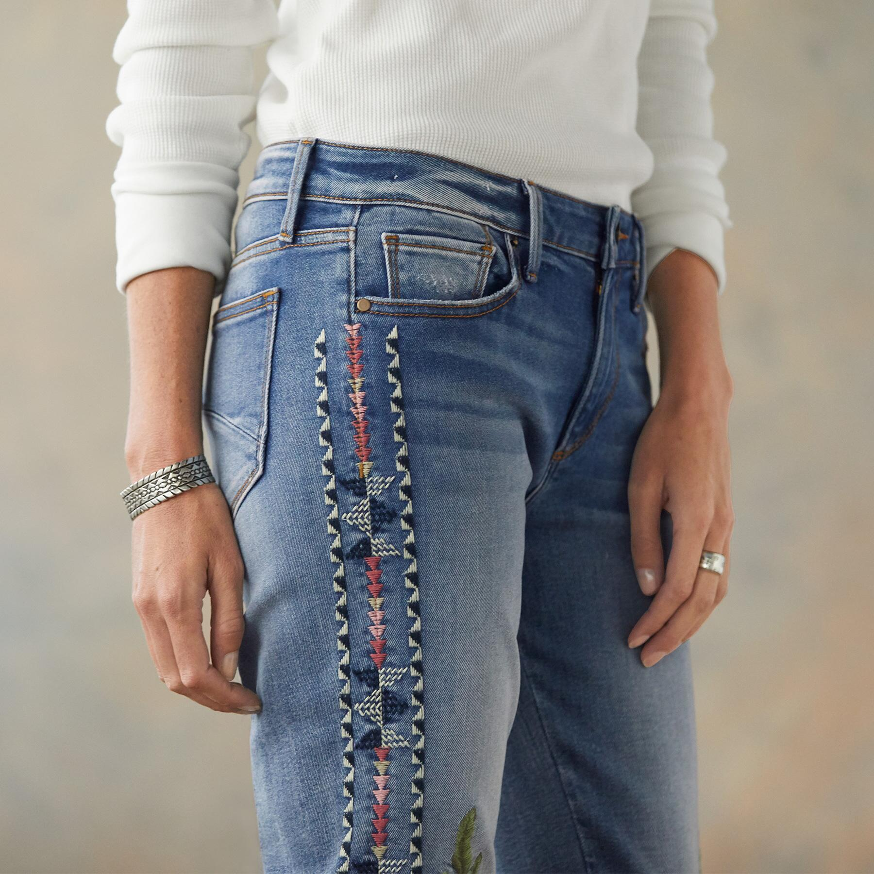 JACKIE FLORAL TRIBE JEANS: View 5