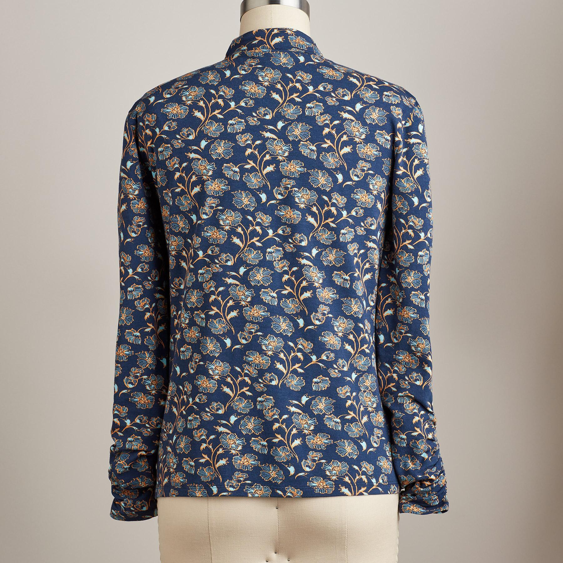 WINDING FLORALS TURTLENECK: View 2