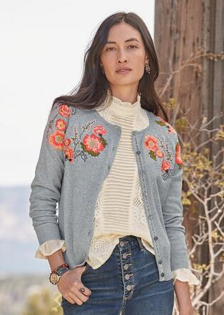 VINTAGE PATHS CARDIGAN
