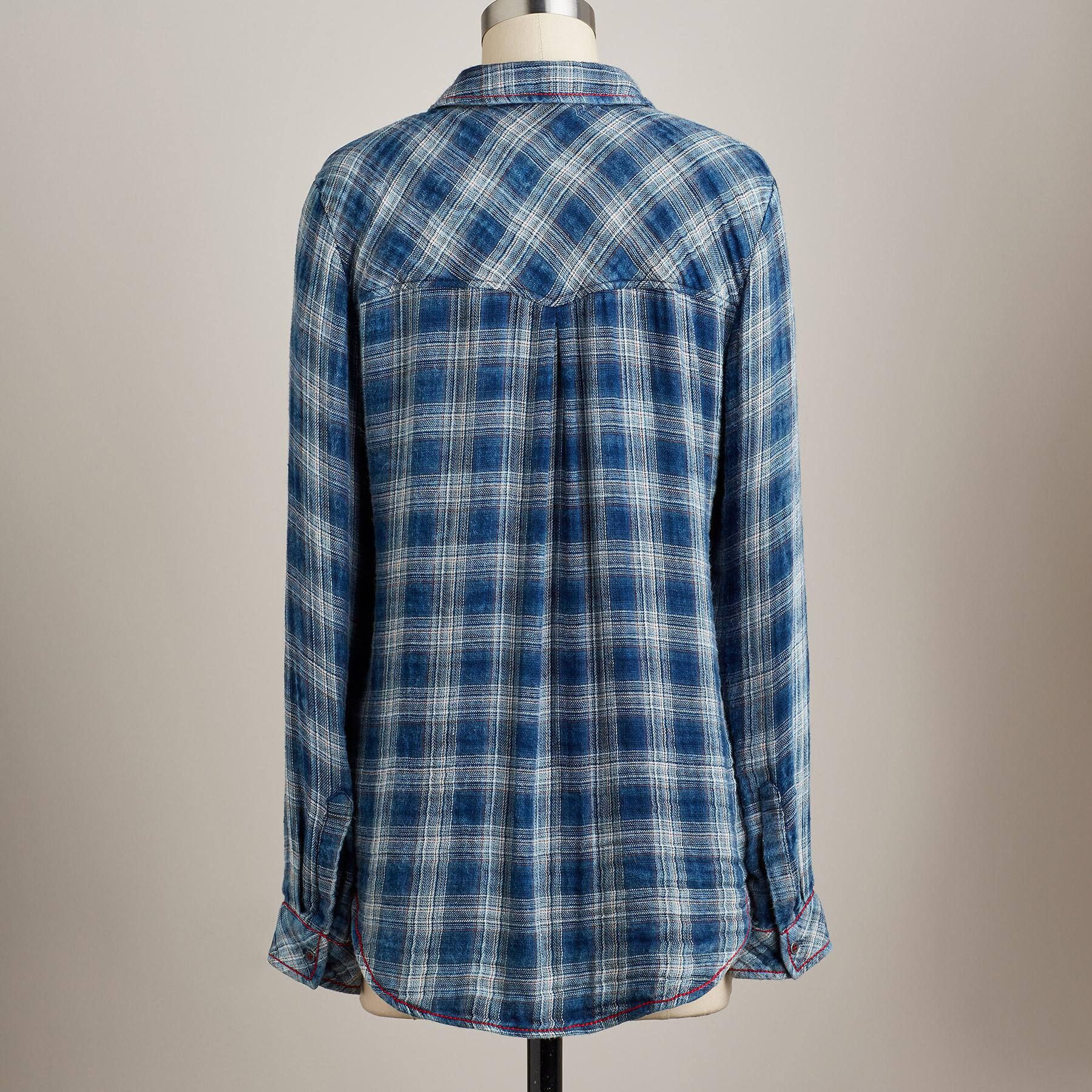 SOFTEST PLAID IN BLOOM SHIRT: View 2