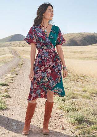 PAISLEY DREAMS DRESS - PETITES
