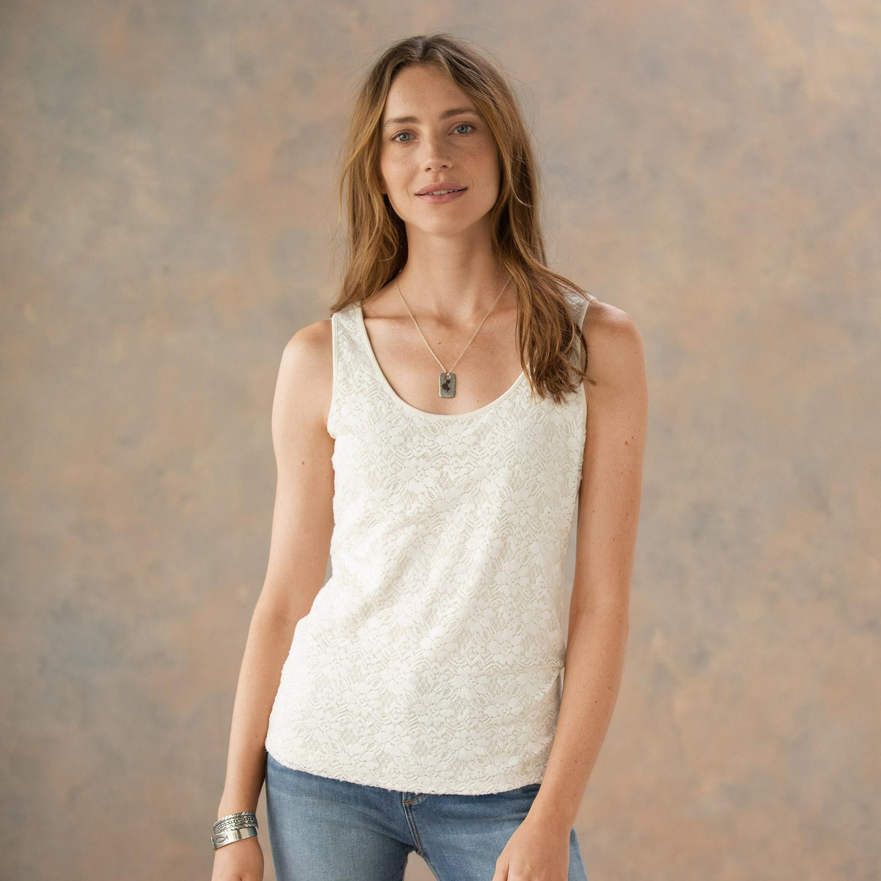 INSPIRATIONS LACE TANK: View 1