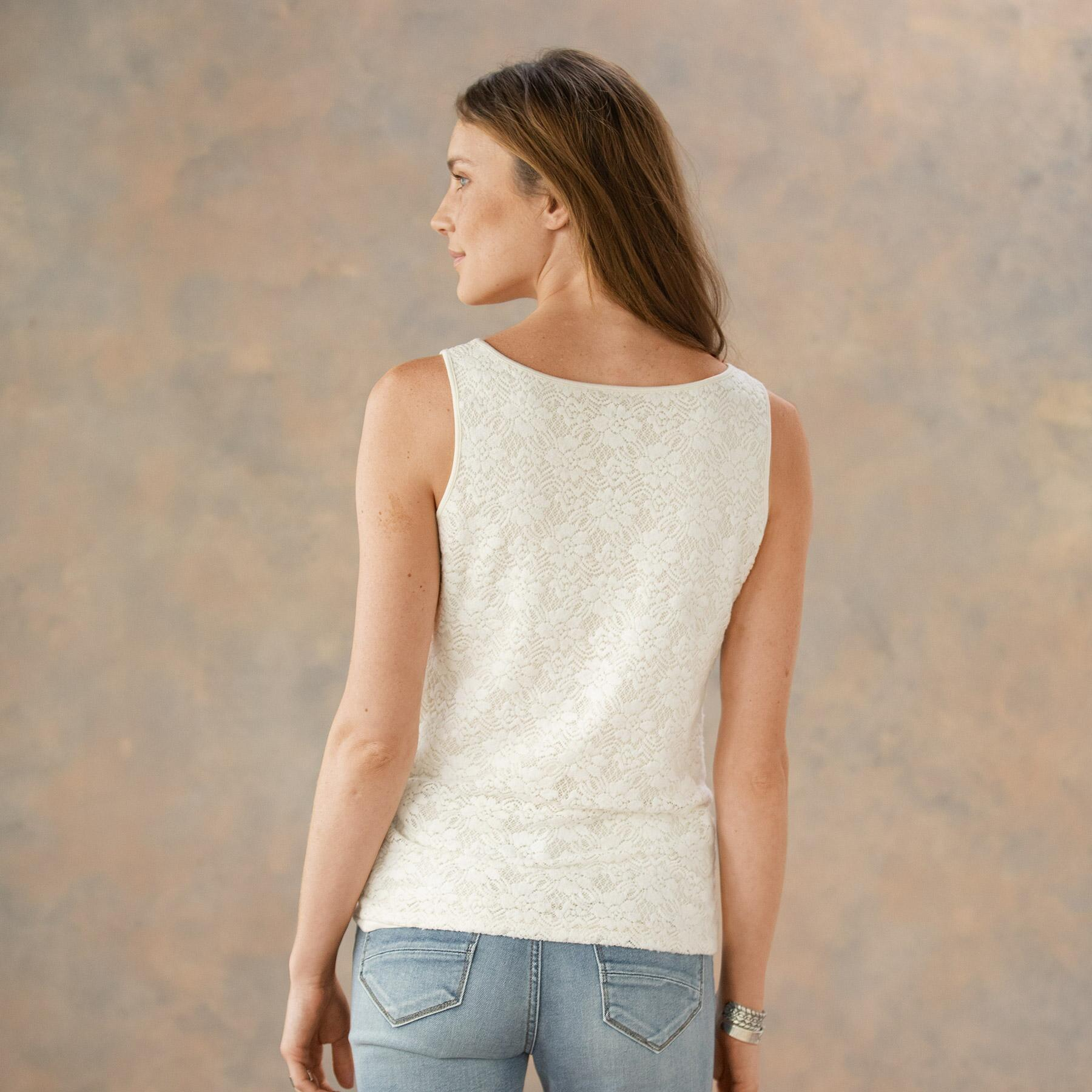INSPIRATIONS LACE TANK: View 2