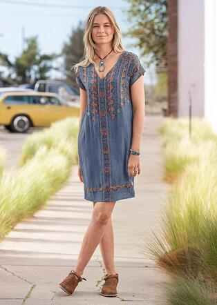 GARDEN MELODY DRESS - PETITES