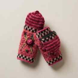 FROSTY BLOOMS CONVERTIBLE MITTENS