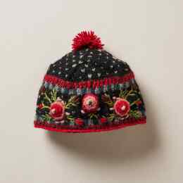 FROSTY BLOOMS BEANIE