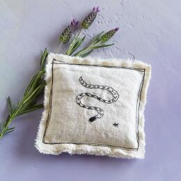 SNAKE POWER LAVENDER PILLOW