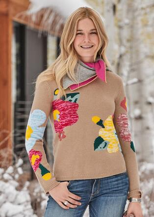 WINTER FLOWERS SWEATER