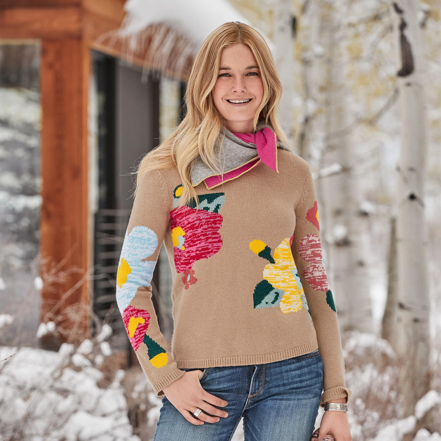 WINTER FLOWERS SWEATER: View 1