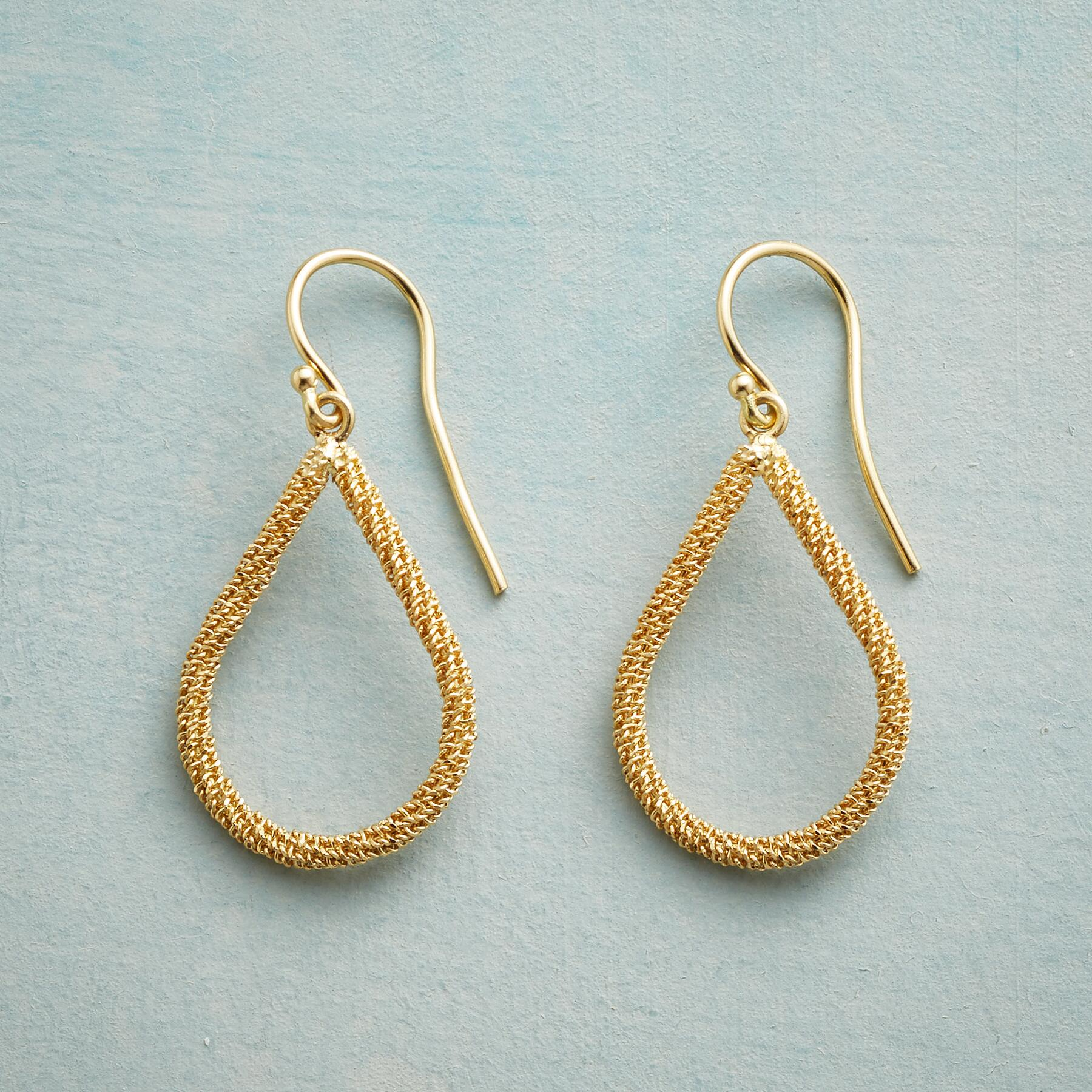 TEARS OF GOLD EARRINGS: View 1