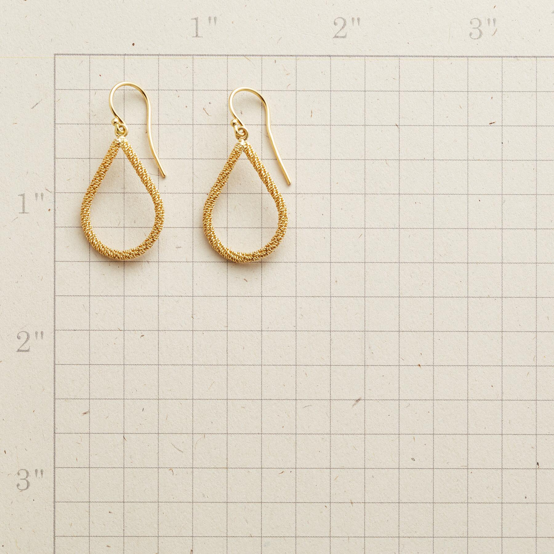 TEARS OF GOLD EARRINGS: View 2