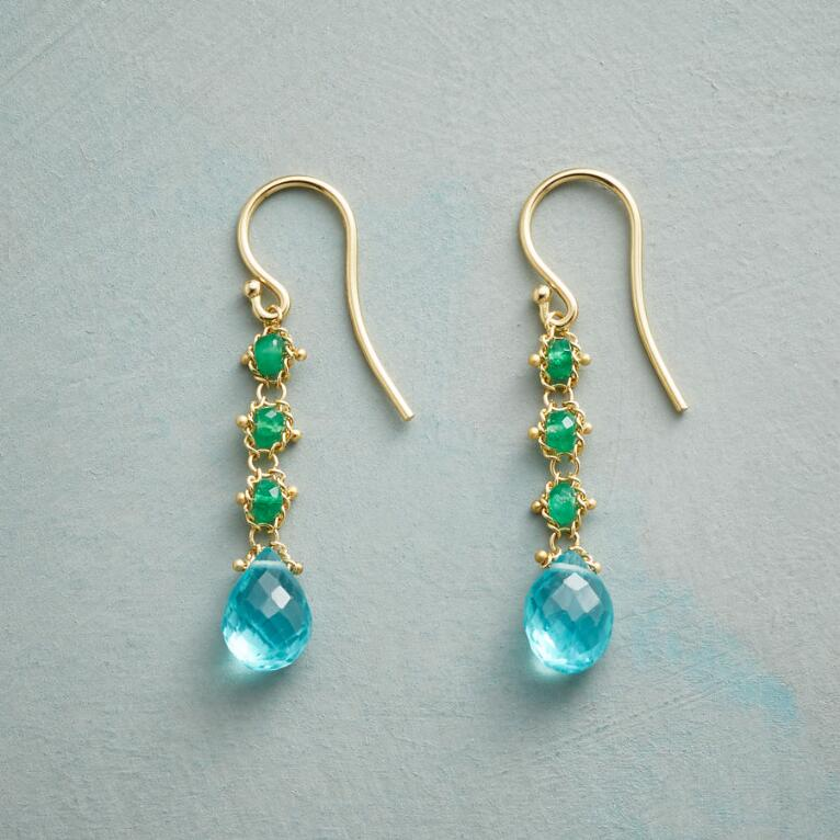 TRAIL OF EMERALD EARRINGS