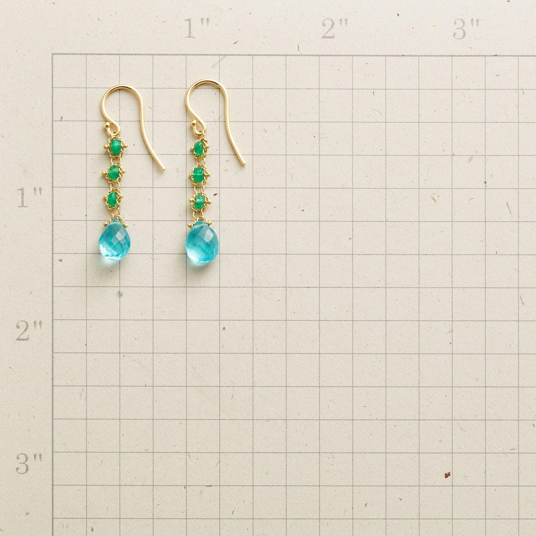 TRAIL OF EMERALD EARRINGS: View 2