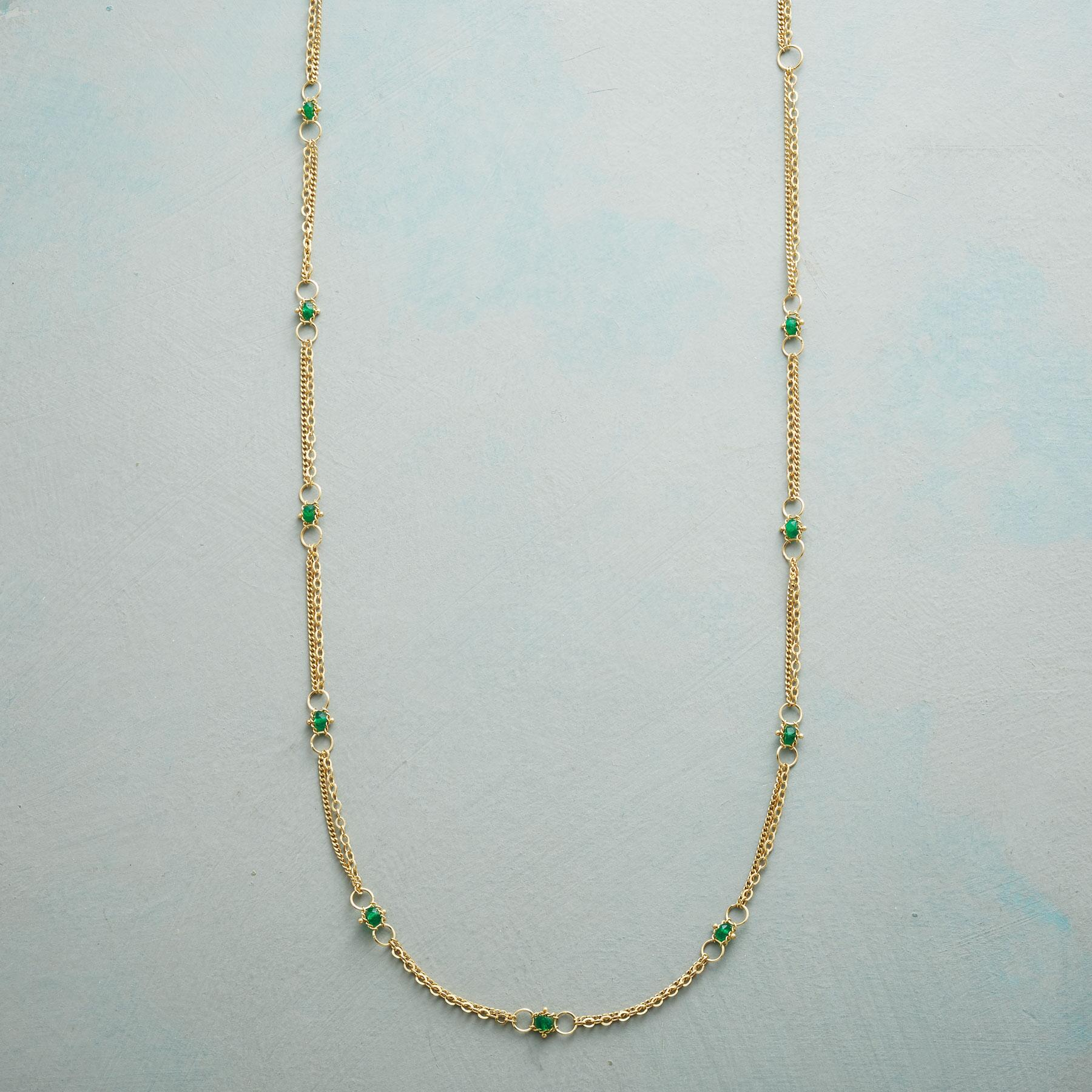 EMERALD INTERLUDE NECKLACE: View 1