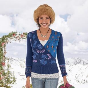 GALAXY DELIGHT SURPLICE SWEATER