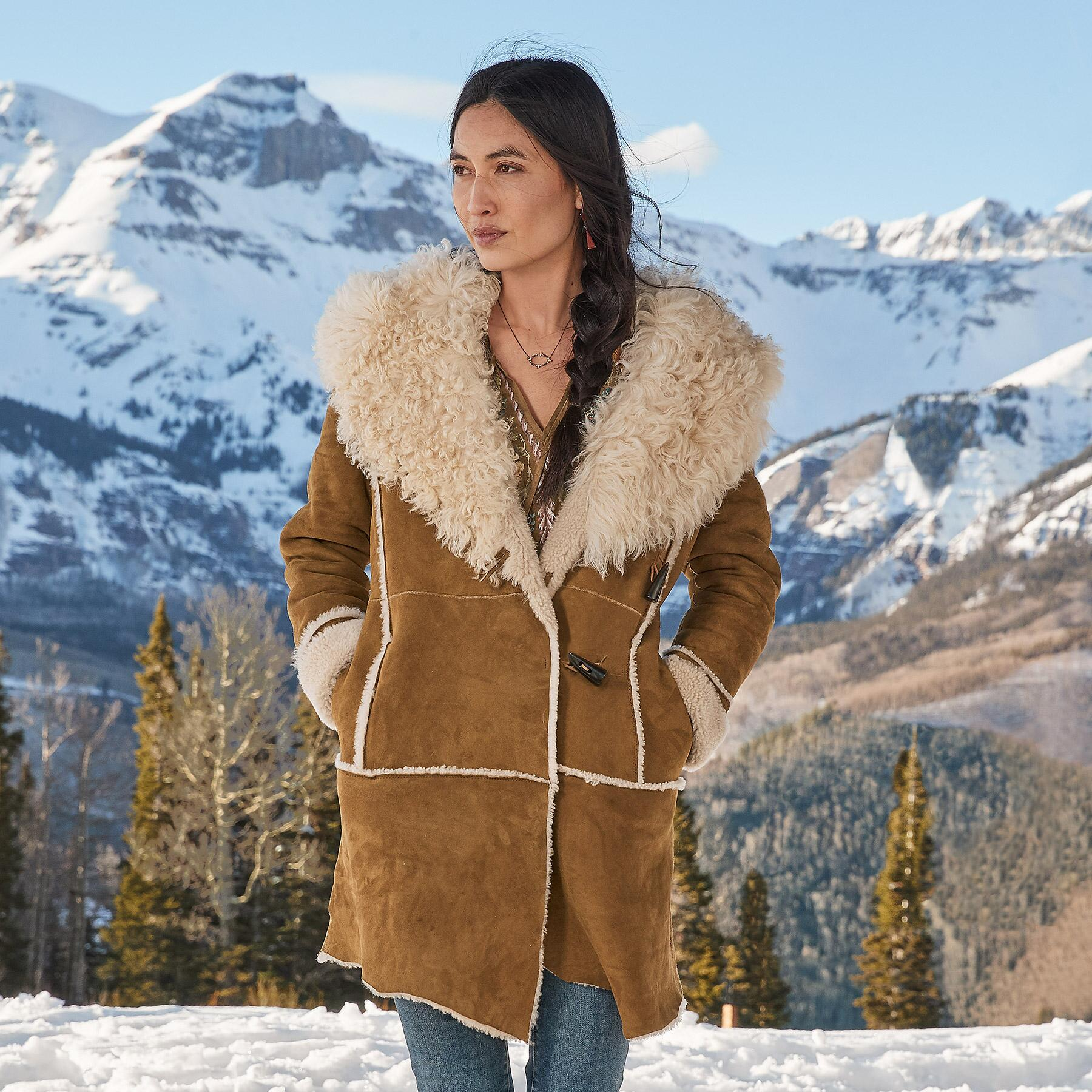 GWYNETH SHEARLING COAT: View 1
