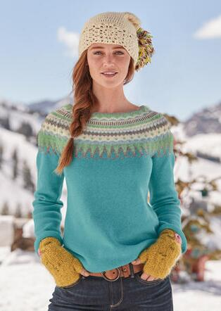 PIPER FAIR ISLE SWEATER - PETITES