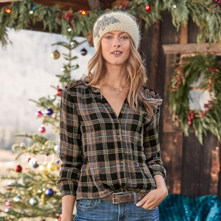REGAL PLAID TOP