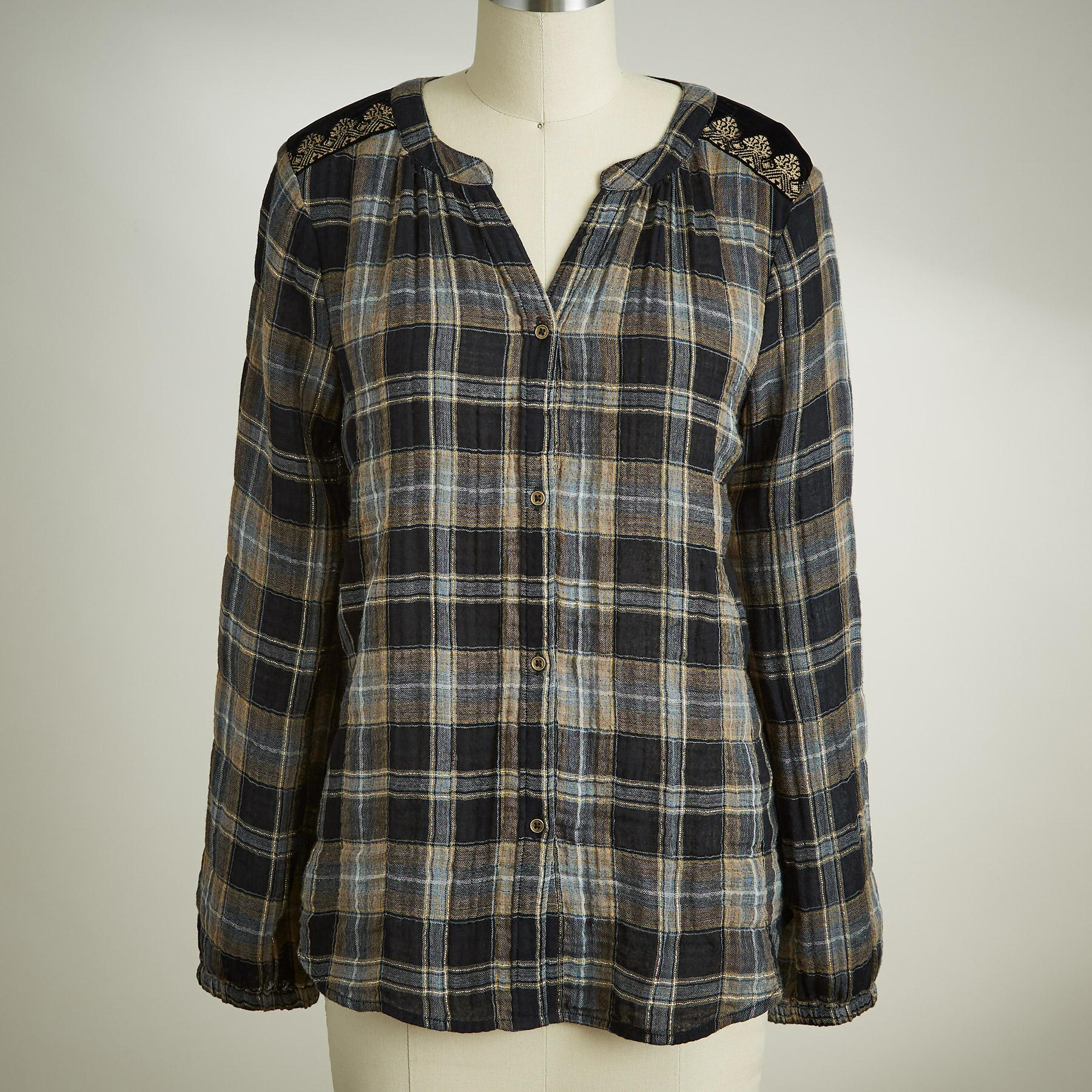 REGAL PLAID TOP: View 2