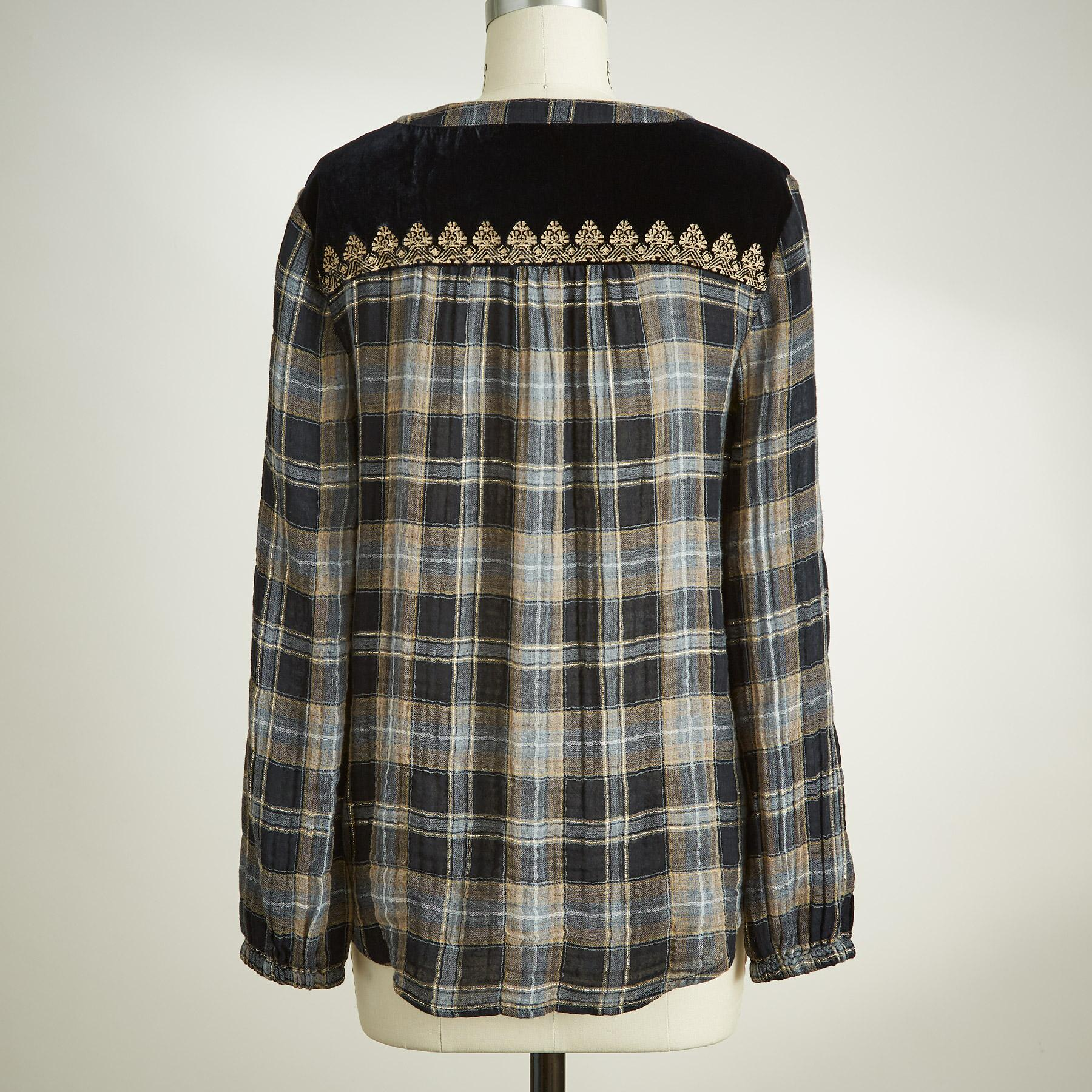 REGAL PLAID TOP: View 3