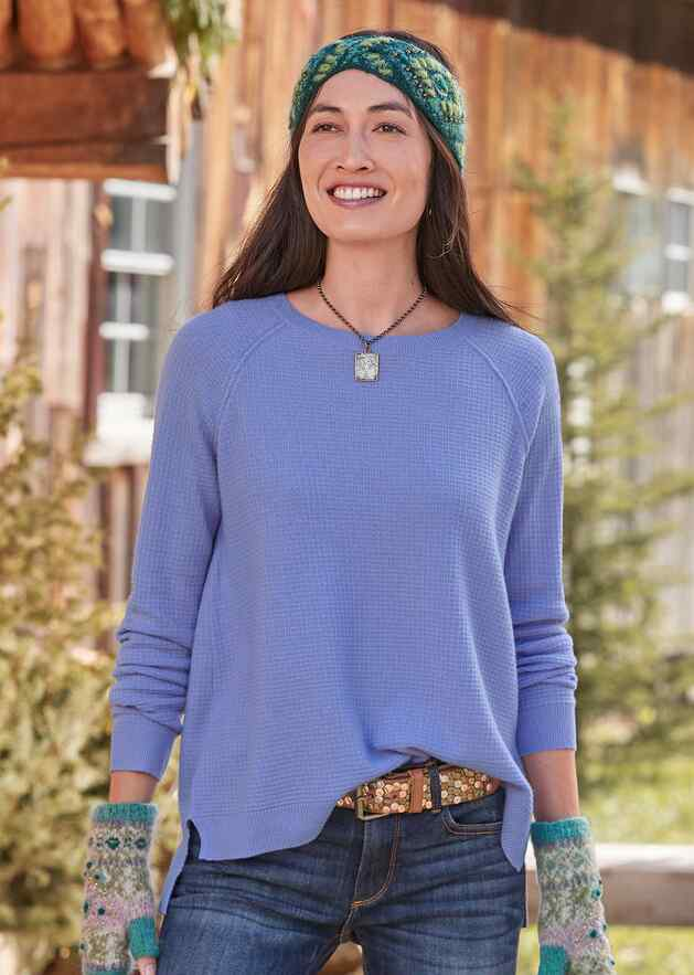 SIMPLE DAYS CASHMERE PULLOVER - PETITES
