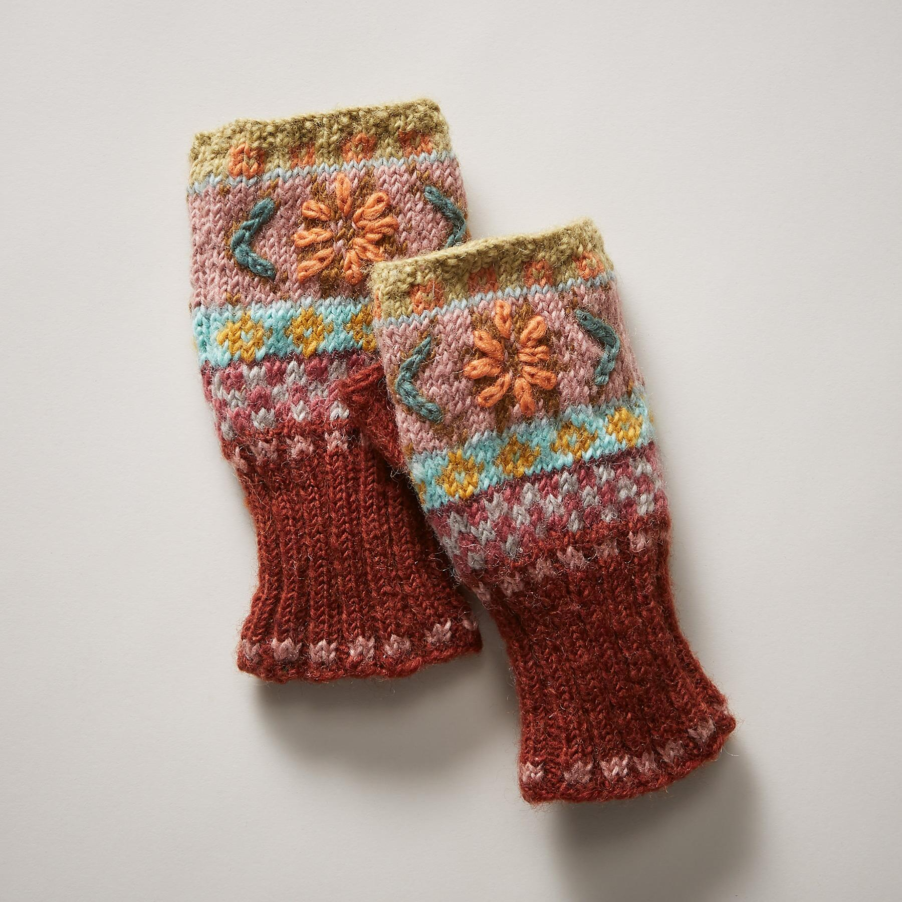 FAIR ISLE HANDWARMERS: View 1