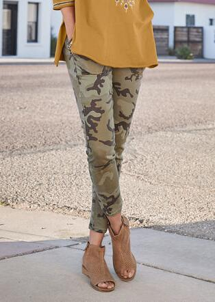 COOL IN CAMO SKINNY PANTS