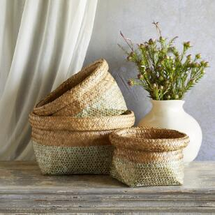 SEAGRASS BASKETS, SET OF 3