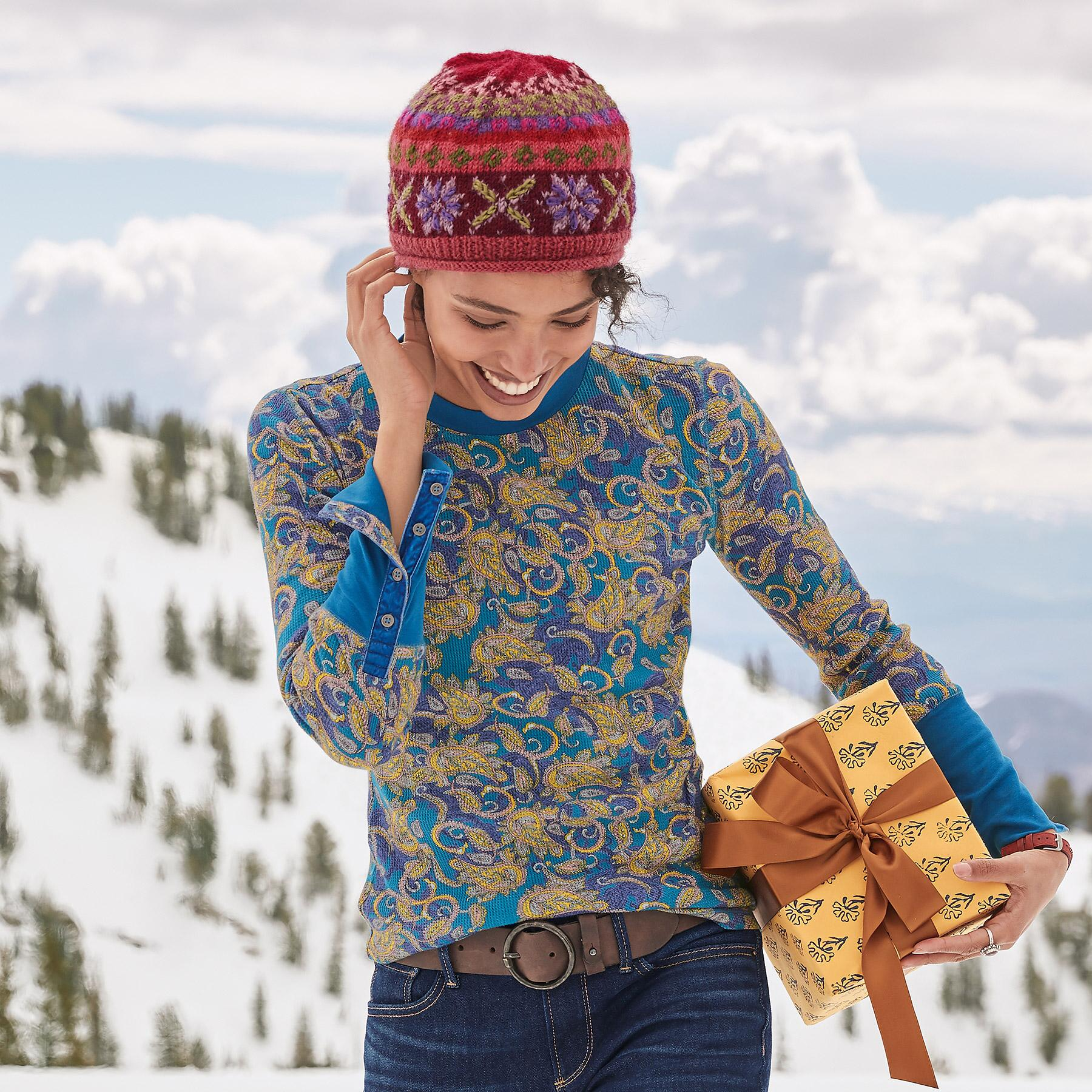 PAISLEY THERMAL TEE - PETITES: View 1