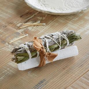 SWEET GRASS & SELENITE SMUDGE STICK