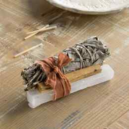 PINON PINE & SELENITE SMUDGE STICK