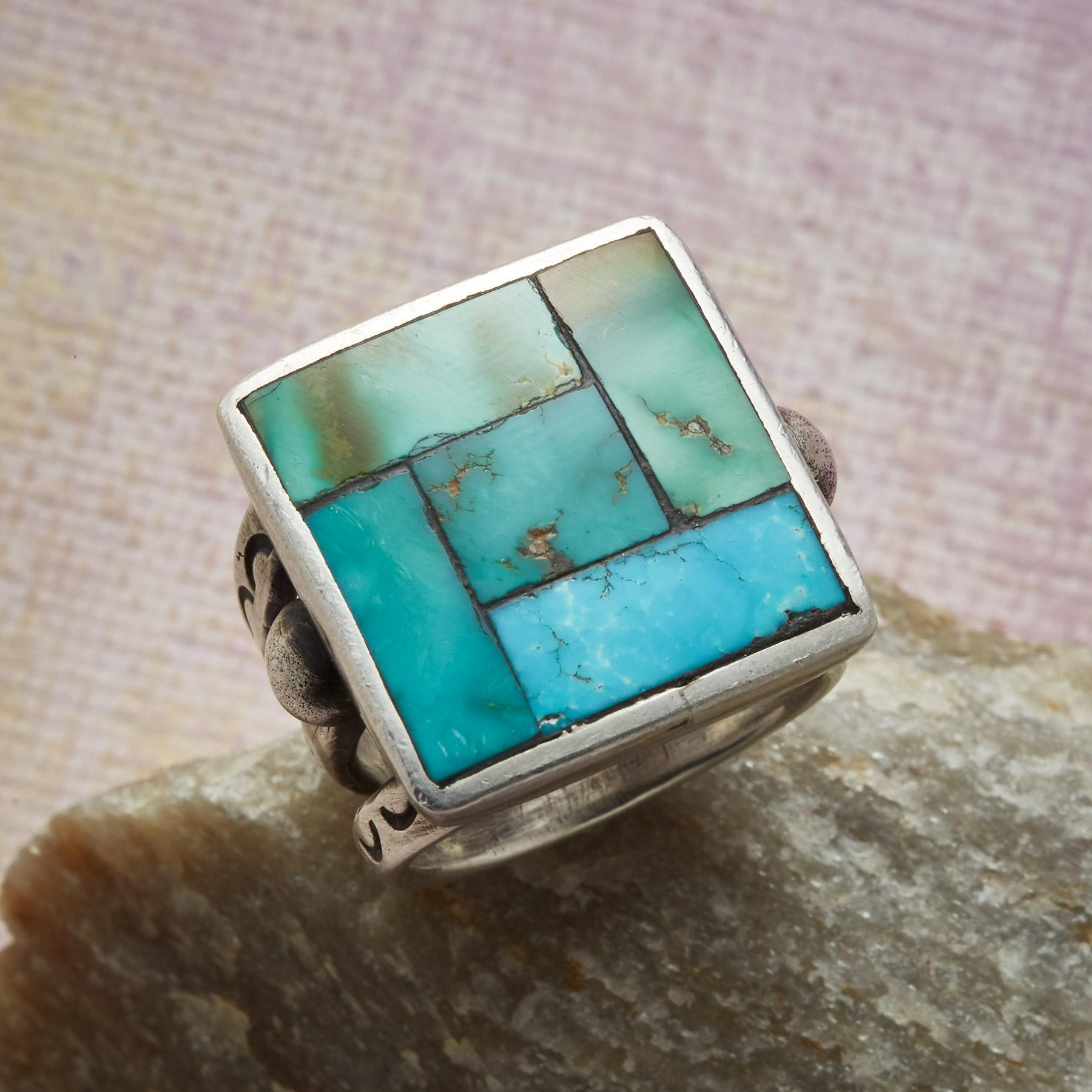 MOSAIC TURQUOISE RING: View 1