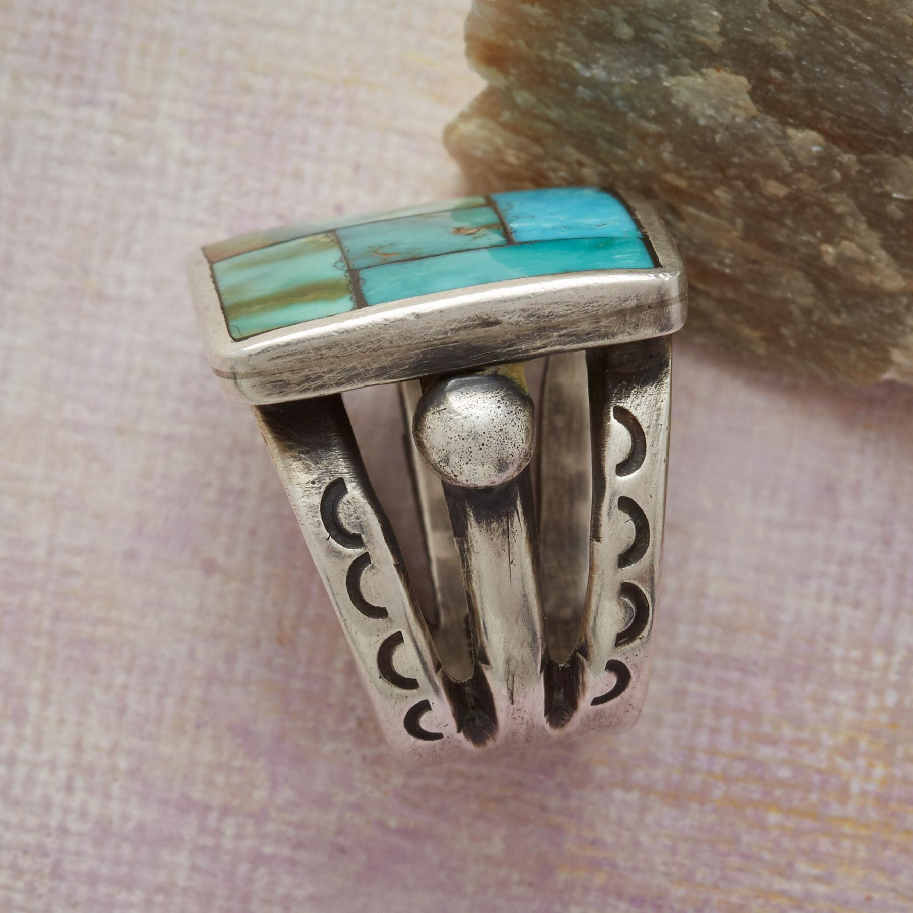 MOSAIC TURQUOISE RING: View 2
