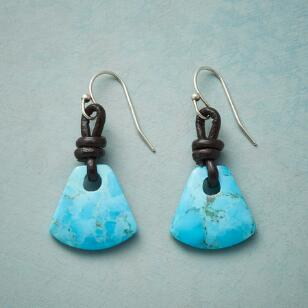 TETHERED TURQUOISE EARRINGS