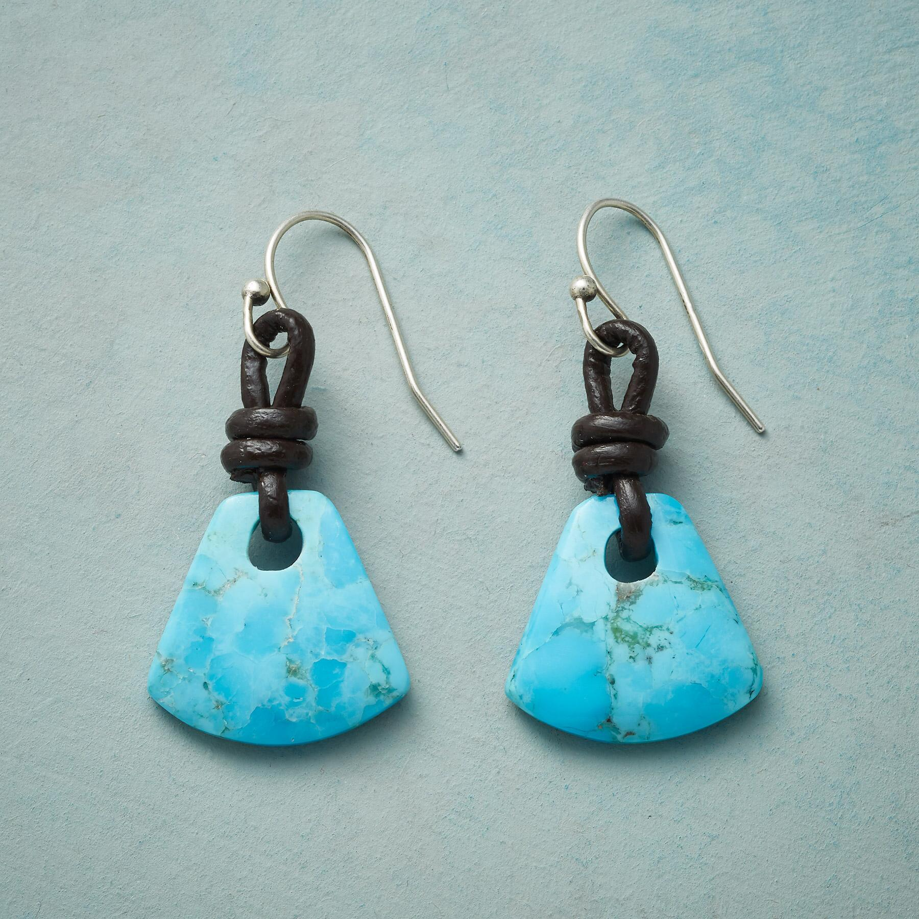 TETHERED TURQUOISE EARRINGS: View 1