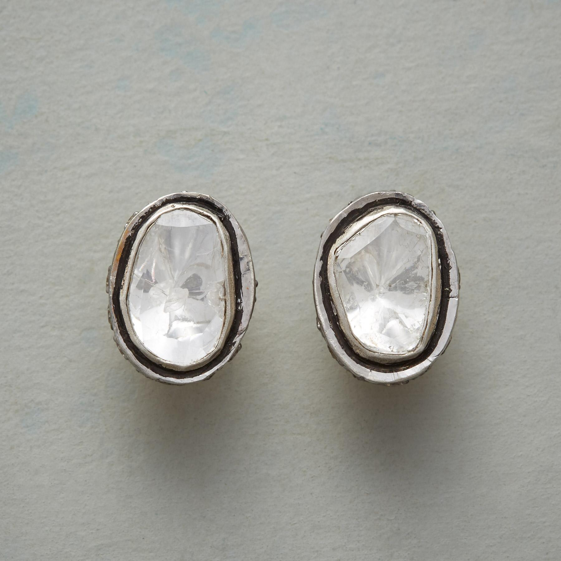 EVERY DAY GLAMOUR DIAMOND EARRINGS: View 1
