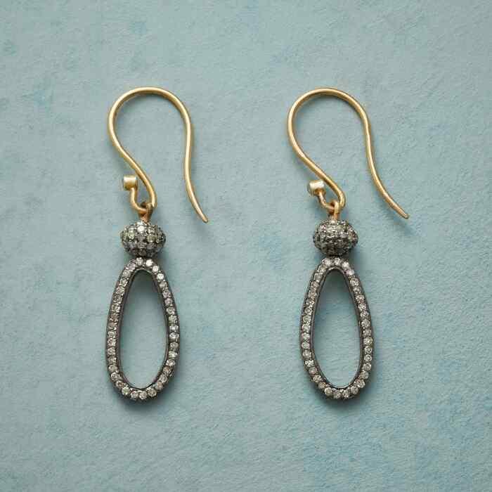 DIAMOND LASSO EARRINGS