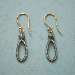 DIAMOND LASSO EARRINGS