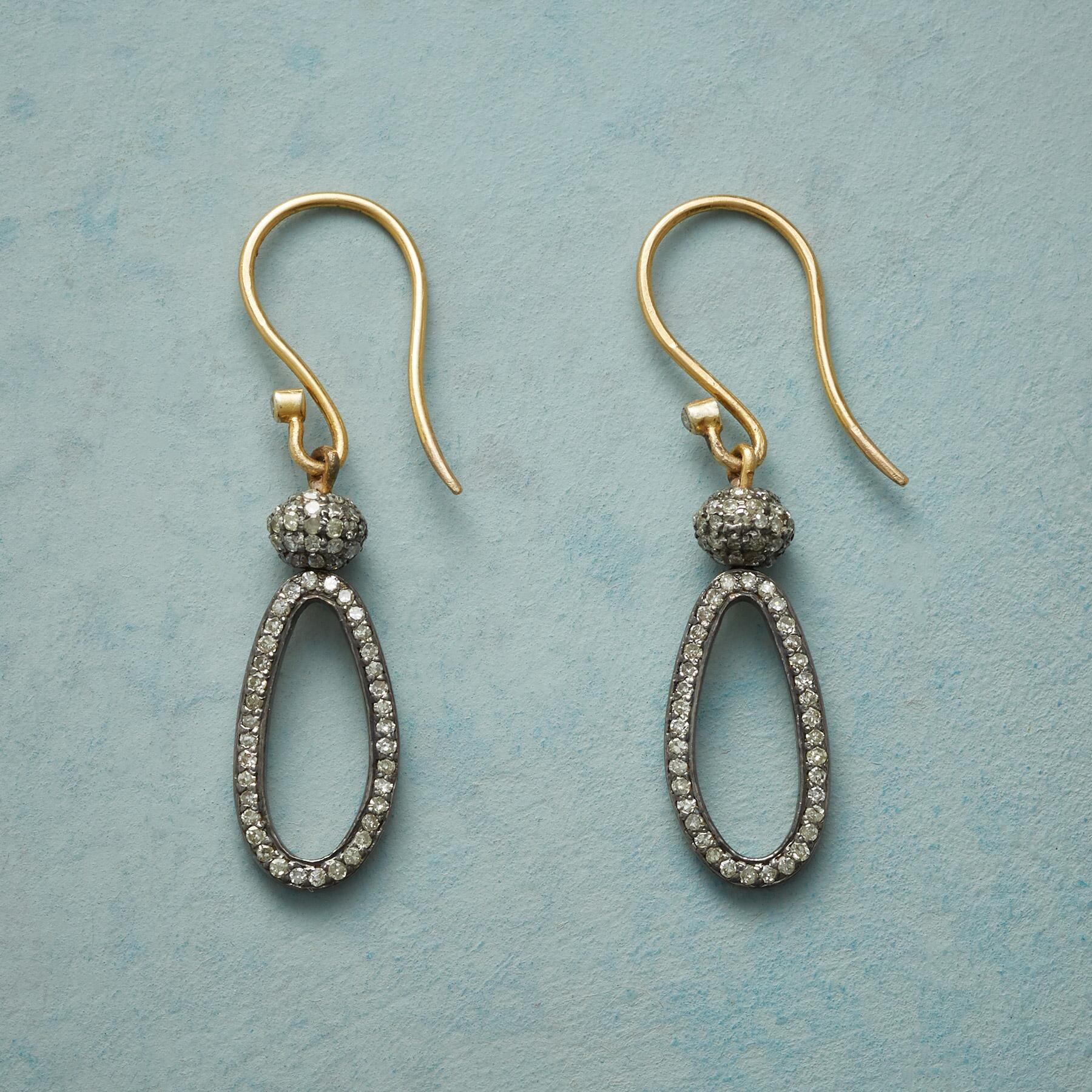 DIAMOND LASSO EARRINGS: View 1