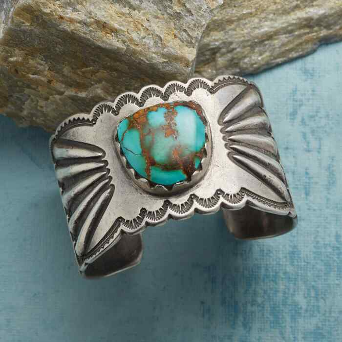 FLIGHT & BEAUTY TURQUOISE CUFF